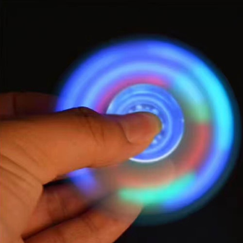 Fidget Hand Finger Tri LED Lighting Light Glowing Luminous Spinner Stress Reducer Desk Toy for Fidgeters Anxiety Autism ADHD FocusHome &amp; Garden<br>Fidget Hand Finger Tri LED Lighting Light Glowing Luminous Spinner Stress Reducer Desk Toy for Fidgeters Anxiety Autism ADHD Focus<br>