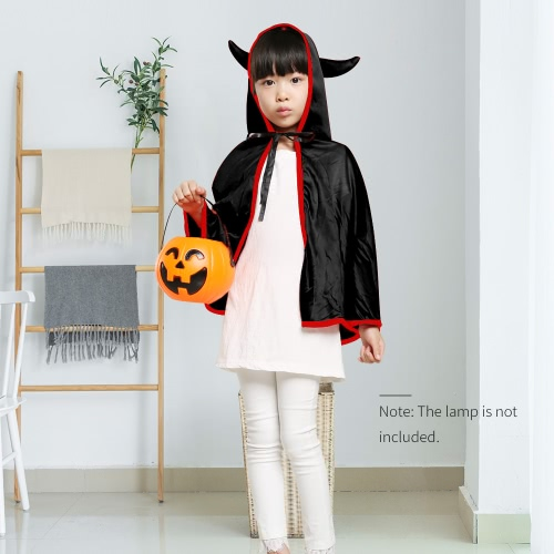 Unisex Kids Halloween Cloak with Ox Horn Hood Cosplay Role Play Party Cape Costumes for Boys Girls OrangeHome &amp; Garden<br>Unisex Kids Halloween Cloak with Ox Horn Hood Cosplay Role Play Party Cape Costumes for Boys Girls Orange<br>