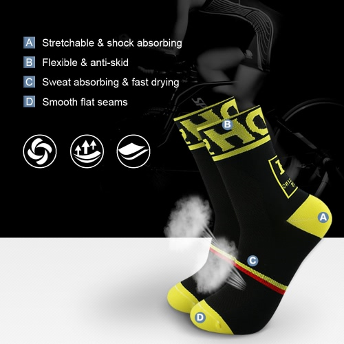 2 Pairs Mens Athletic Cycling Socks Breathable Wicking Outdoor Running Hiking Socks for US 8.5-10 / UK 7.5-9 / European 42-45--BlHome &amp; Garden<br>2 Pairs Mens Athletic Cycling Socks Breathable Wicking Outdoor Running Hiking Socks for US 8.5-10 / UK 7.5-9 / European 42-45--Bl<br>