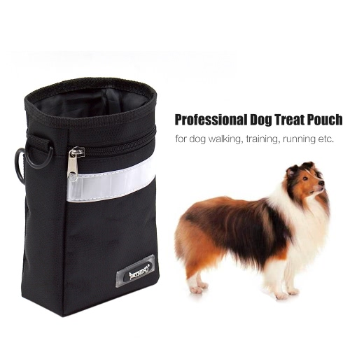 Professional Dog Treat Pouch Bag Holder with Secure Closure Waste Poop Bag Dispenser Waist Belt Strap for Training Walking Dog ToyHome &amp; Garden<br>Professional Dog Treat Pouch Bag Holder with Secure Closure Waste Poop Bag Dispenser Waist Belt Strap for Training Walking Dog Toy<br>