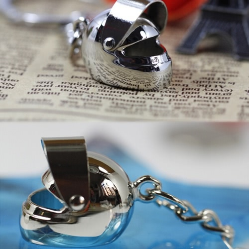 Creative Metal Car Helmet Shape Lovers Key Rings Small Pendant for Couples Romantic GiftHome &amp; Garden<br>Creative Metal Car Helmet Shape Lovers Key Rings Small Pendant for Couples Romantic Gift<br>
