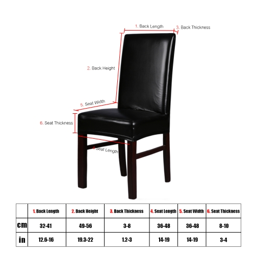 2pcs One-piece PU Leather Stretchable Dining Chair Back Seat Covers Waterproof Oilproof Dustproof Ceremony Chair Slipcovers ProtecHome &amp; Garden<br>2pcs One-piece PU Leather Stretchable Dining Chair Back Seat Covers Waterproof Oilproof Dustproof Ceremony Chair Slipcovers Protec<br>