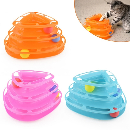 Tower of Tracks Amusement Intelligence Dog Cat Toys Three Layers Turntable Ball Pet Products Triangle Trilaminar Playing Plate EntHome &amp; Garden<br>Tower of Tracks Amusement Intelligence Dog Cat Toys Three Layers Turntable Ball Pet Products Triangle Trilaminar Playing Plate Ent<br>