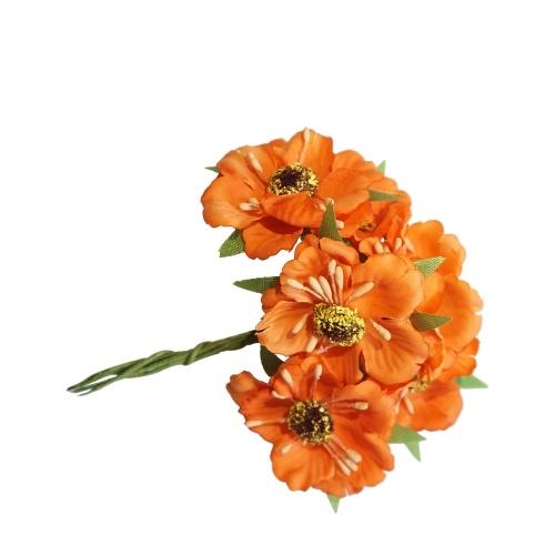 6Pcs/Bunch 3.5cm Mini Silk Cherry Artificial Poppy Bouquet