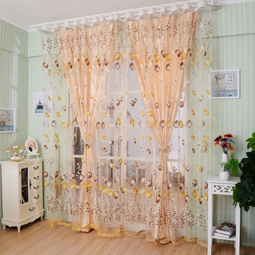 2PCS 1M*2M Elegant Window Door Curtains Sheer Voile Tulle for Bedroom Living Room Balcony Kitchen Shop Decoration Printed Tulip PaHome &amp; Garden<br>2PCS 1M*2M Elegant Window Door Curtains Sheer Voile Tulle for Bedroom Living Room Balcony Kitchen Shop Decoration Printed Tulip Pa<br>