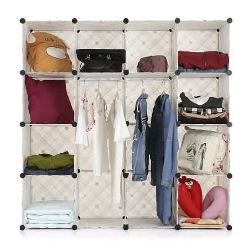 iKayaa Large Fashion Multi-use Clothes Closet Wardrobe Cabinet DIY Cloth Shoes Storage OrganizerHome &amp; Garden<br>iKayaa Large Fashion Multi-use Clothes Closet Wardrobe Cabinet DIY Cloth Shoes Storage Organizer<br>