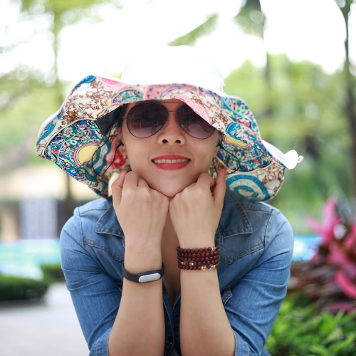 New Fashion Nylon Bluetooth Sun Hats Large Brimmed Bohemian Big Flower Hat for Woman Summer Bluetooth Music Hat Wireless Hands-FreHome &amp; Garden<br>New Fashion Nylon Bluetooth Sun Hats Large Brimmed Bohemian Big Flower Hat for Woman Summer Bluetooth Music Hat Wireless Hands-Fre<br>