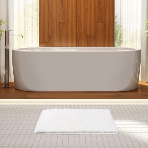 50 * 80cm Rectangular Soft Plush Bathroom Rug Non-slip Water Absorbent Shaggy Shower Mat Bathmat Bath Toilet Rug GreyHome &amp; Garden<br>50 * 80cm Rectangular Soft Plush Bathroom Rug Non-slip Water Absorbent Shaggy Shower Mat Bathmat Bath Toilet Rug Grey<br>