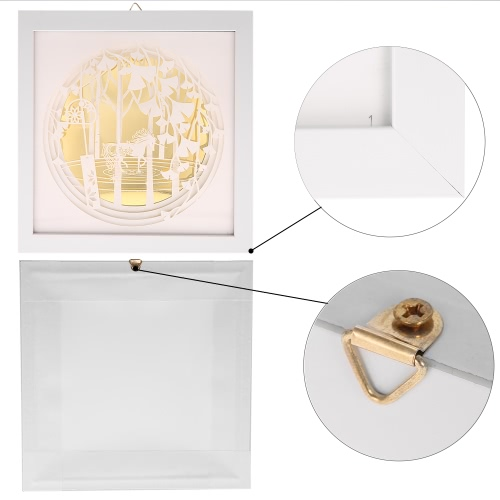 Modern 3D Decorative Painting with Frame Delicate Paper Engraving Picture Wall Living Room Home Decor Decoration 24*24cmHome &amp; Garden<br>Modern 3D Decorative Painting with Frame Delicate Paper Engraving Picture Wall Living Room Home Decor Decoration 24*24cm<br>