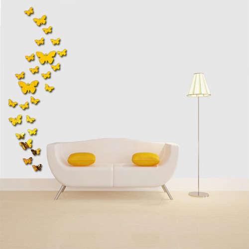 25pcs Adhesive DIY 3D Butterfly Mirror Wall Living Room Bedroom Bathroom Stick Decal Home Party Decoration Decor Art Mural StickerHome &amp; Garden<br>25pcs Adhesive DIY 3D Butterfly Mirror Wall Living Room Bedroom Bathroom Stick Decal Home Party Decoration Decor Art Mural Sticker<br>