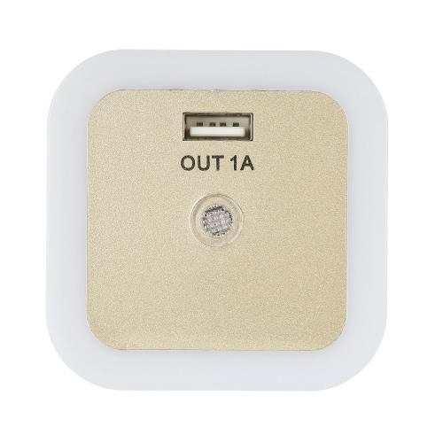 Mini Light Sensor LED Night Light with USB Interface Wall Nightlight for Baby Room Bedroom AC100V-240VHome &amp; Garden<br>Mini Light Sensor LED Night Light with USB Interface Wall Nightlight for Baby Room Bedroom AC100V-240V<br>