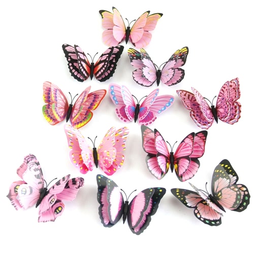 3D Lifelike And Double Layer PVC Butterfly For Wall DecorationHome &amp; Garden<br>3D Lifelike And Double Layer PVC Butterfly For Wall Decoration<br>