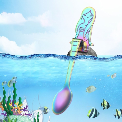 Cute Mermaid Spoon 304 Stainless Steel Teaspoon Long Handle Coffee Spoons Sugar Dessert Appetizer Seasoning Bistro Flatware HanginHome &amp; Garden<br>Cute Mermaid Spoon 304 Stainless Steel Teaspoon Long Handle Coffee Spoons Sugar Dessert Appetizer Seasoning Bistro Flatware Hangin<br>