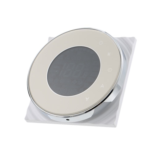 BECA Programmable Round Fan Coil Thermostat 95~240VAC Four Pipe Heating/Cooling Touch Screen 5+2 Weekly Data Memory Air ConditioneHome &amp; Garden<br>BECA Programmable Round Fan Coil Thermostat 95~240VAC Four Pipe Heating/Cooling Touch Screen 5+2 Weekly Data Memory Air Conditione<br>