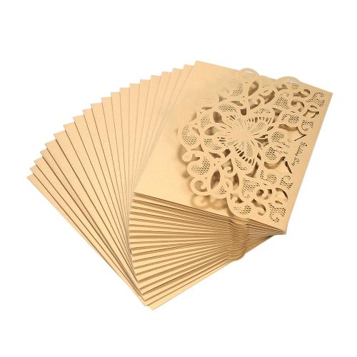 20pcs/set Wedding Invitation Cards Pearl Paper Laser Cut Hollow Butterfly Pattern Invitation Cards Kit--PinkHome &amp; Garden<br>20pcs/set Wedding Invitation Cards Pearl Paper Laser Cut Hollow Butterfly Pattern Invitation Cards Kit--Pink<br>