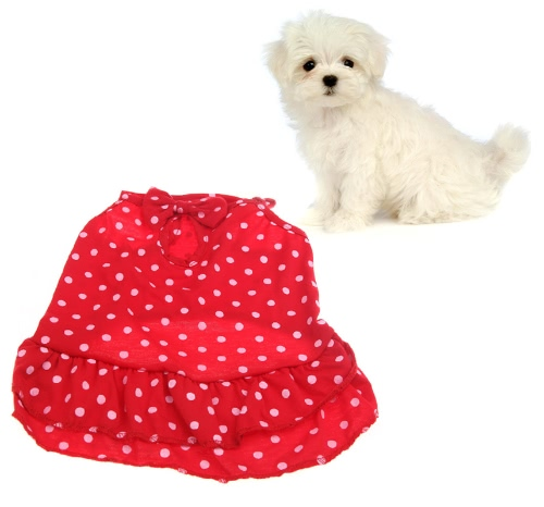 Full Spot Pattern Slim Braces Dresses Clothes for Pet Dog DoggyHome &amp; Garden<br>Full Spot Pattern Slim Braces Dresses Clothes for Pet Dog Doggy<br>