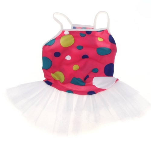 Colorful Spot Pattern Braces Dress Skirt Clothes for Pet Dog DoggyHome &amp; Garden<br>Colorful Spot Pattern Braces Dress Skirt Clothes for Pet Dog Doggy<br>