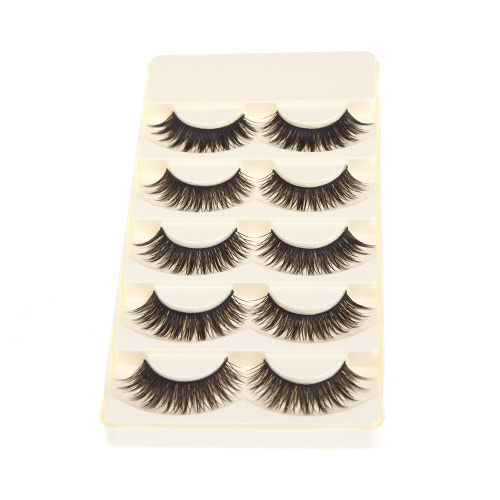 5 Pairs False Eyelashes Pure Hand-made Thick Long Voluminous Fake LashesHealth &amp; Beauty<br>5 Pairs False Eyelashes Pure Hand-made Thick Long Voluminous Fake Lashes<br>