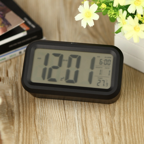 Anself LED Digital Alarm Clock Repeating Snooze Light-activated Sensor Backlight Time Date Temperature Display BlackHome &amp; Garden<br>Anself LED Digital Alarm Clock Repeating Snooze Light-activated Sensor Backlight Time Date Temperature Display Black<br>