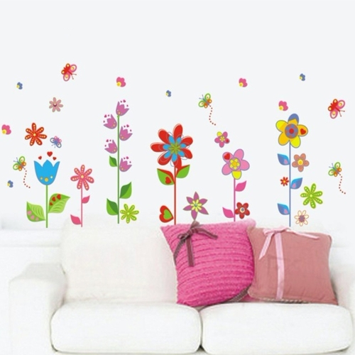 Beautiful Flowers Floral Butterfly DIY Wall Stickers Wallpaper Art Decor Mural Room DecalHome &amp; Garden<br>Beautiful Flowers Floral Butterfly DIY Wall Stickers Wallpaper Art Decor Mural Room Decal<br>