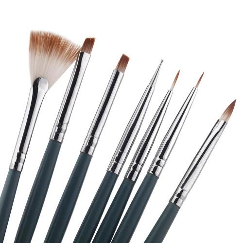 7pcs uñas arte diseño ainting herramienta pluma Polaco cepillo Set Kit bricolaje profesional