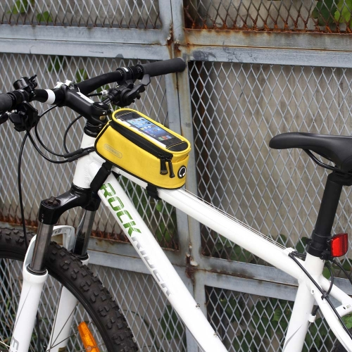 Roswheel Cycling Bike Bicycle Front Top Tube Frame Bag Pouch Transparent PVC with Audio Extension Line for 4.2 Cellphone 0.9L YelSports &amp; Outdoor<br>Roswheel Cycling Bike Bicycle Front Top Tube Frame Bag Pouch Transparent PVC with Audio Extension Line for 4.2 Cellphone 0.9L Yel<br>