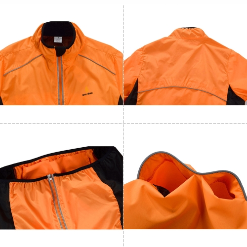 WOLFBIKE Cycling Jersey Men Riding Breathable Jacket Cycle Clothing Bike Long Sleeve Wind Coat Orange 3XLSports &amp; Outdoor<br>WOLFBIKE Cycling Jersey Men Riding Breathable Jacket Cycle Clothing Bike Long Sleeve Wind Coat Orange 3XL<br>