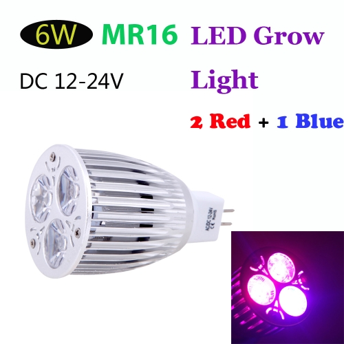 MR16 6W LED Plant Grow Light Hydroponic Lamp Bulb 2 Red 1 Blue Energy Saving for Indoor Flower Plants Growth Vegetable GreenhouseHome &amp; Garden<br>MR16 6W LED Plant Grow Light Hydroponic Lamp Bulb 2 Red 1 Blue Energy Saving for Indoor Flower Plants Growth Vegetable Greenhouse<br>