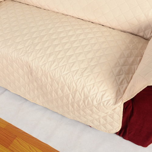 Quilted Microfiber Soft Sofa Cover Cushion Backrest Slipcover Covering Mat for Home Furniture ProtectorHome &amp; Garden<br>Quilted Microfiber Soft Sofa Cover Cushion Backrest Slipcover Covering Mat for Home Furniture Protector<br>