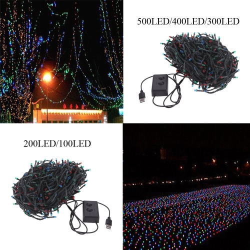 RGB 400 LED Christmas String Light Outdoor Decoration Fairy Xmas Tree Wedding Holiday Party Garden Colorful USB DC 5VHome &amp; Garden<br>RGB 400 LED Christmas String Light Outdoor Decoration Fairy Xmas Tree Wedding Holiday Party Garden Colorful USB DC 5V<br>