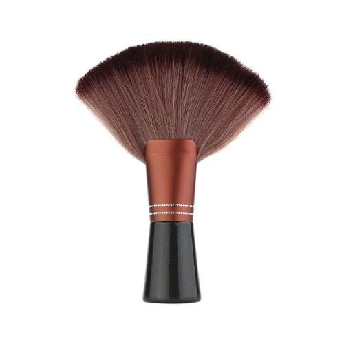 Cabello corte cepillo plumero del cuello para estilista peluquero profesional de limpieza de herramientas con mango de madera salón estilista peluquero