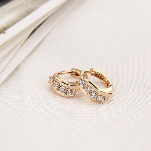 1Pair Clear Crystal Zircon 18K Gold Plated Wave Leaf Ear Earring Jewelry Gift for Women LadyHealth &amp; Beauty<br>1Pair Clear Crystal Zircon 18K Gold Plated Wave Leaf Ear Earring Jewelry Gift for Women Lady<br>