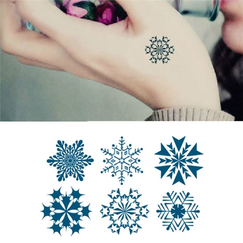 Tattoo Sticker Snowflakes Pattern Waterproof Temporary Tattooing Paper Body ArtHealth &amp; Beauty<br>Tattoo Sticker Snowflakes Pattern Waterproof Temporary Tattooing Paper Body Art<br>