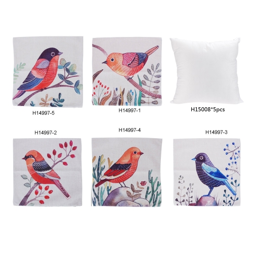 Simple Rural Style Bird Cotton and Linen Pillowcase Back Cushion Cover Throw Pillow Case for Bed Sofa Car Home Decorative Decor 45Home &amp; Garden<br>Simple Rural Style Bird Cotton and Linen Pillowcase Back Cushion Cover Throw Pillow Case for Bed Sofa Car Home Decorative Decor 45<br>