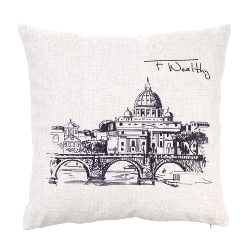 Statue of Liberty World Landmarks Cotton and Linen Pillowcase Back Cushion Cover Throw Pillow Case for Bed Sofa Car Home DecorativHome &amp; Garden<br>Statue of Liberty World Landmarks Cotton and Linen Pillowcase Back Cushion Cover Throw Pillow Case for Bed Sofa Car Home Decorativ<br>