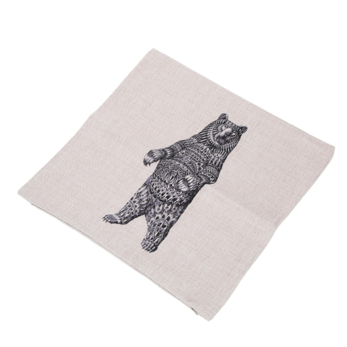Elephant Rhinoceros Animals Cotton and Linen Pillowcase Back Cushion Cover Throw Pillow Case for Bed Sofa Car Home Decorative DecoHome &amp; Garden<br>Elephant Rhinoceros Animals Cotton and Linen Pillowcase Back Cushion Cover Throw Pillow Case for Bed Sofa Car Home Decorative Deco<br>
