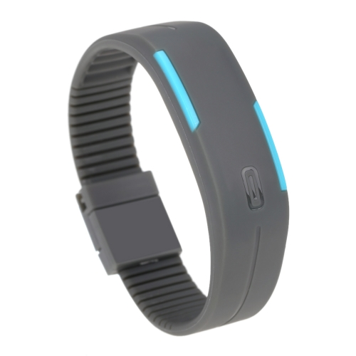 LED Sport Watch Water Resistant Fashionable Digital Bracelet for Men and Women GreyApparel &amp; Jewelry<br>LED Sport Watch Water Resistant Fashionable Digital Bracelet for Men and Women Grey<br>