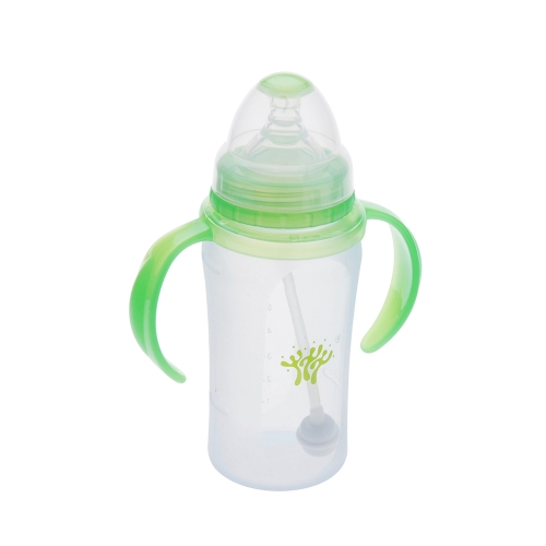 240ml Silicone Milk Feeding Bottle Nipple with Handle for Baby InfantHome &amp; Garden<br>240ml Silicone Milk Feeding Bottle Nipple with Handle for Baby Infant<br>