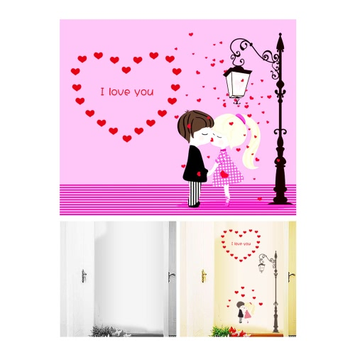 Removable Wall Decal Sticker Romantic Love DIY Wallpaper Art Decals Mural for Room Decoration 50 * 70cmHome &amp; Garden<br>Removable Wall Decal Sticker Romantic Love DIY Wallpaper Art Decals Mural for Room Decoration 50 * 70cm<br>
