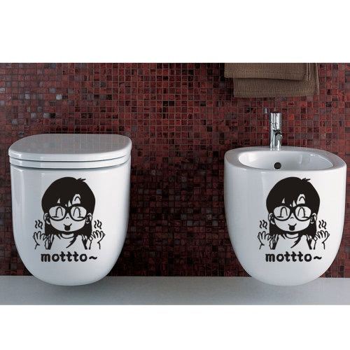 Removable Toilet Decal Lovely Cartoon Character Sticker DIY Bathroom Decoration Decorating Paper 22 * 28cmHome &amp; Garden<br>Removable Toilet Decal Lovely Cartoon Character Sticker DIY Bathroom Decoration Decorating Paper 22 * 28cm<br>