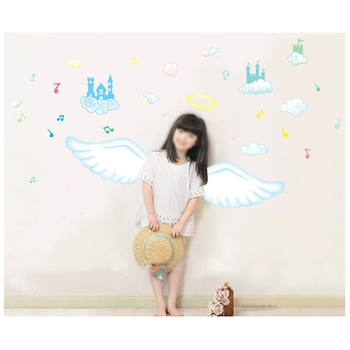 Removable Wall Decal Sticker Catroon Beautiful Angel DIY Wallpaper Art Decals Mural for Room Decoration 60 * 90cmHome &amp; Garden<br>Removable Wall Decal Sticker Catroon Beautiful Angel DIY Wallpaper Art Decals Mural for Room Decoration 60 * 90cm<br>