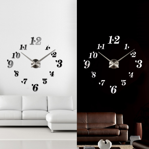 DIY Mirror Effect Wall Clock Simple Digits Acrylic Glass Decal Set Removable Home Decoration BlackHome &amp; Garden<br>DIY Mirror Effect Wall Clock Simple Digits Acrylic Glass Decal Set Removable Home Decoration Black<br>