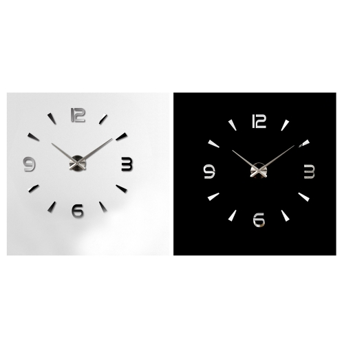 Simple Digits Mirror Effect Wall Clock Creative Removable Acrylic Wall Decal Set Home Decoration BlackHome &amp; Garden<br>Simple Digits Mirror Effect Wall Clock Creative Removable Acrylic Wall Decal Set Home Decoration Black<br>