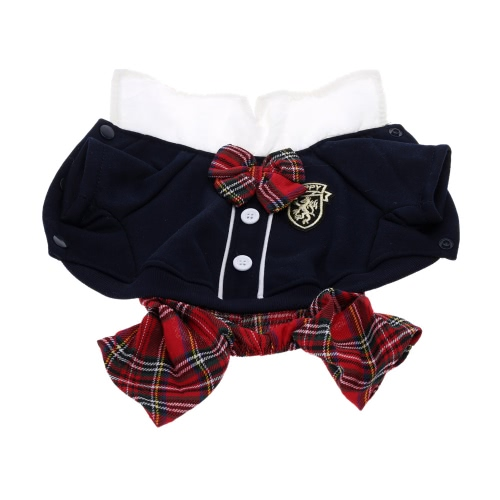 Lovely Bowtie Fashionable Campus Style Pet Puppy Dog Clothes Jumpsuit Couple Dress for Spring Autumn Female MHome &amp; Garden<br>Lovely Bowtie Fashionable Campus Style Pet Puppy Dog Clothes Jumpsuit Couple Dress for Spring Autumn Female M<br>