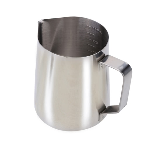 Stainless Steel Milk Frother Pitcher Milk Foam Container Measuring Cups Coffe ApplianceHome &amp; Garden<br>Stainless Steel Milk Frother Pitcher Milk Foam Container Measuring Cups Coffe Appliance<br>
