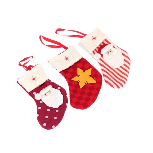 New Style Mini Santa Socks Christmas Ornament Candy Pack XMAS Decoration 3pcsHome &amp; Garden<br>New Style Mini Santa Socks Christmas Ornament Candy Pack XMAS Decoration 3pcs<br>