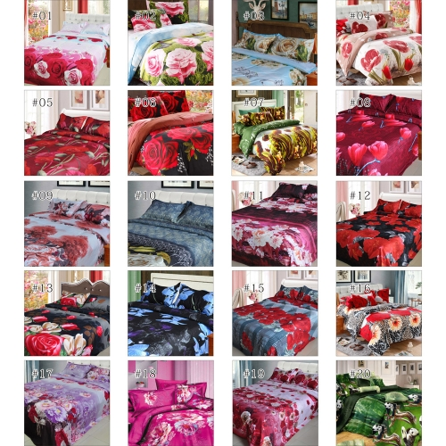 Rose Magnolia Flower Pattern 4Pcs 3D Printed Bedding Set Bedclothes Home Textiles King Queen Size Quilt Cover Bed Sheet 2 PillowcaHome &amp; Garden<br>Rose Magnolia Flower Pattern 4Pcs 3D Printed Bedding Set Bedclothes Home Textiles King Queen Size Quilt Cover Bed Sheet 2 Pillowca<br>