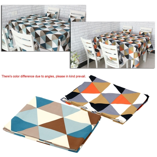Modern Geometric Triangle Pattern Table Cloth Cotton 180 * 140cm Household Dinner Table CoverHome &amp; Garden<br>Modern Geometric Triangle Pattern Table Cloth Cotton 180 * 140cm Household Dinner Table Cover<br>