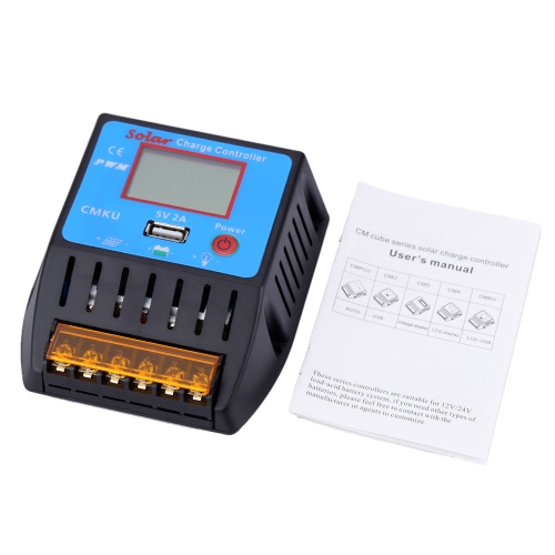 20A 12V/24V Solar Charge Controller with LCD Display USB Output Auto Regulator Solar Panel Battery System Overload ProtectionHome &amp; Garden<br>20A 12V/24V Solar Charge Controller with LCD Display USB Output Auto Regulator Solar Panel Battery System Overload Protection<br>