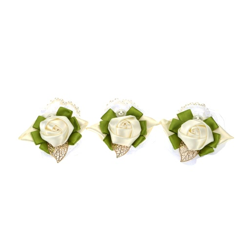 Wedding Decoration Supplies Ivory Bright Bridal Bouquet Dress Up Exquisite Wrist Flowers for Bridesmaid 3pcsHome &amp; Garden<br>Wedding Decoration Supplies Ivory Bright Bridal Bouquet Dress Up Exquisite Wrist Flowers for Bridesmaid 3pcs<br>